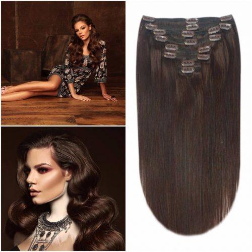 DELUXE Clip in vlasy: predlžovanie vlasov