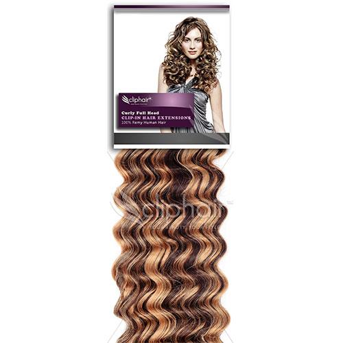 DELUXE kučeravé Clip in vlasy: predlžovanie vlasov