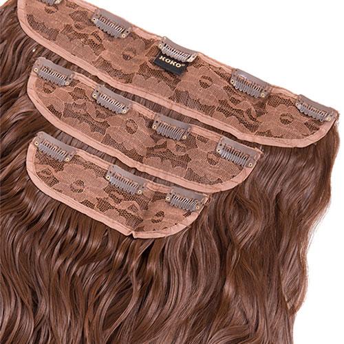 Kučeravé Clip in vlasy: sada KYLIE