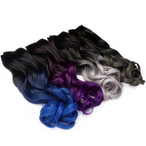 Clip in OMBRE vlnitý predlžovanie vlasov