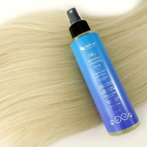 Hydratačný a vyživujúci lak na vlasy na predlžovanie vlasov