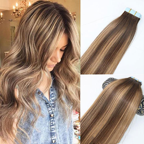 Tape in vlasy – samolepiace predlžovanie vlasov